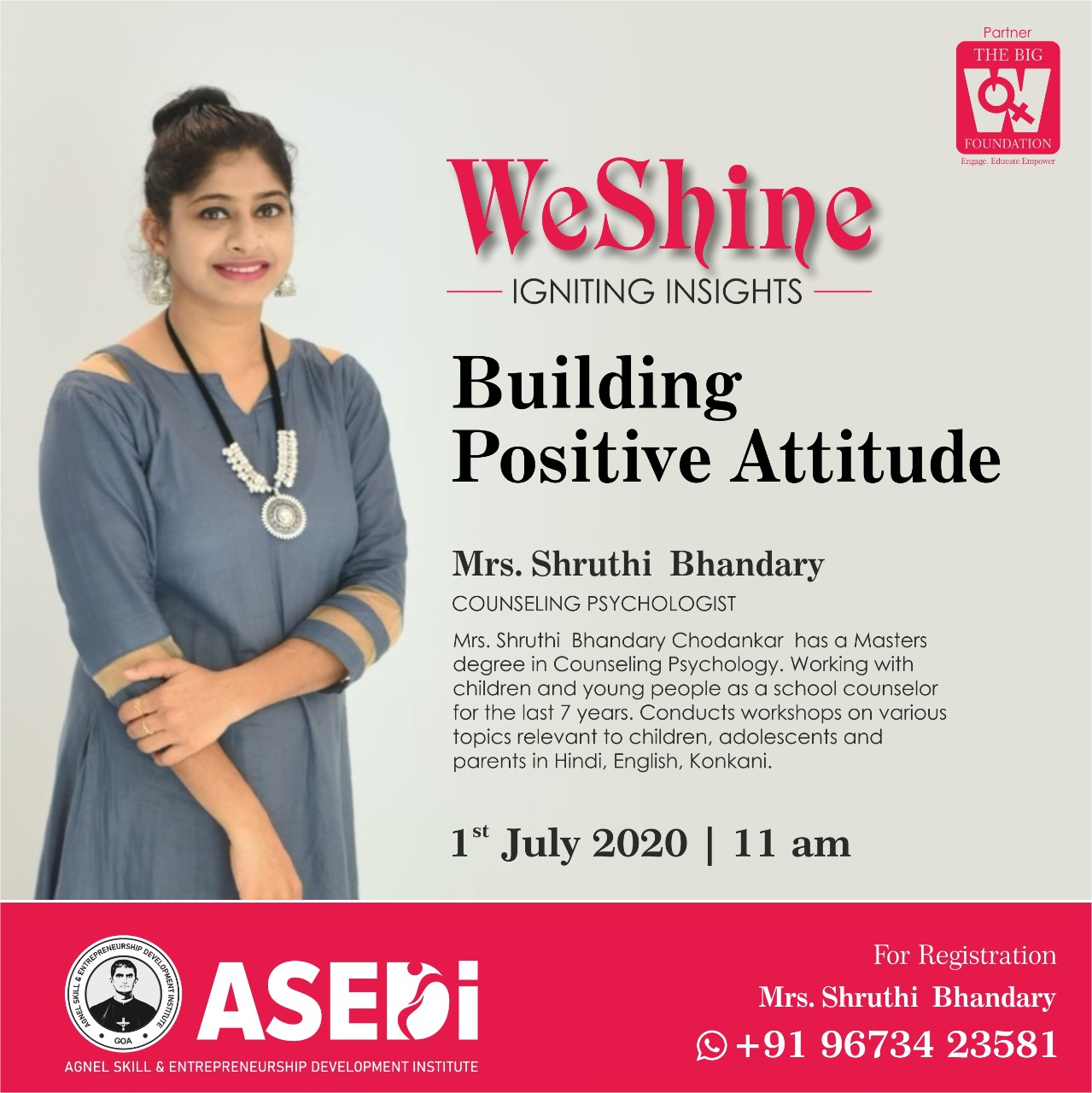 ciba-WeSHINE - Building Positive Attitude