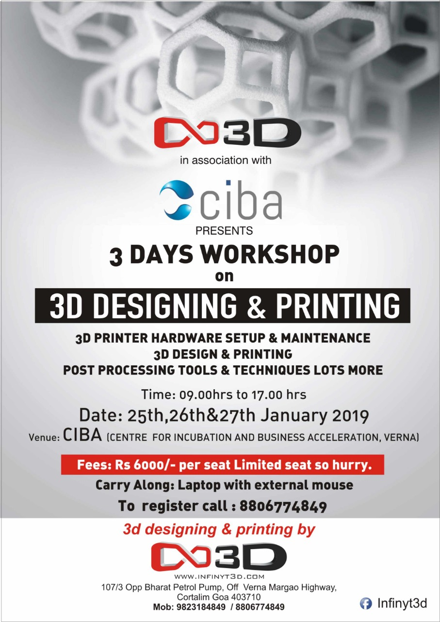 ciba-3D Designing and Printing Workshop