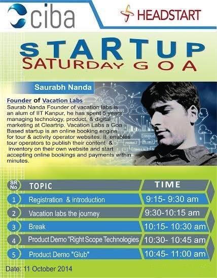ciba-Headstart Startup Saturday October edition