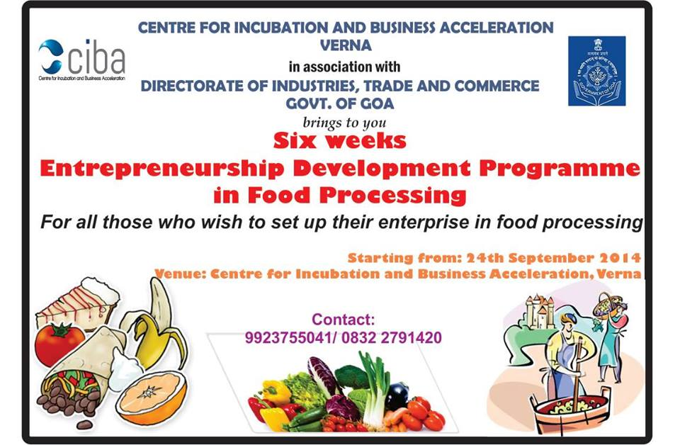 ciba-Entrepreneurship Development Programme in Food Processing