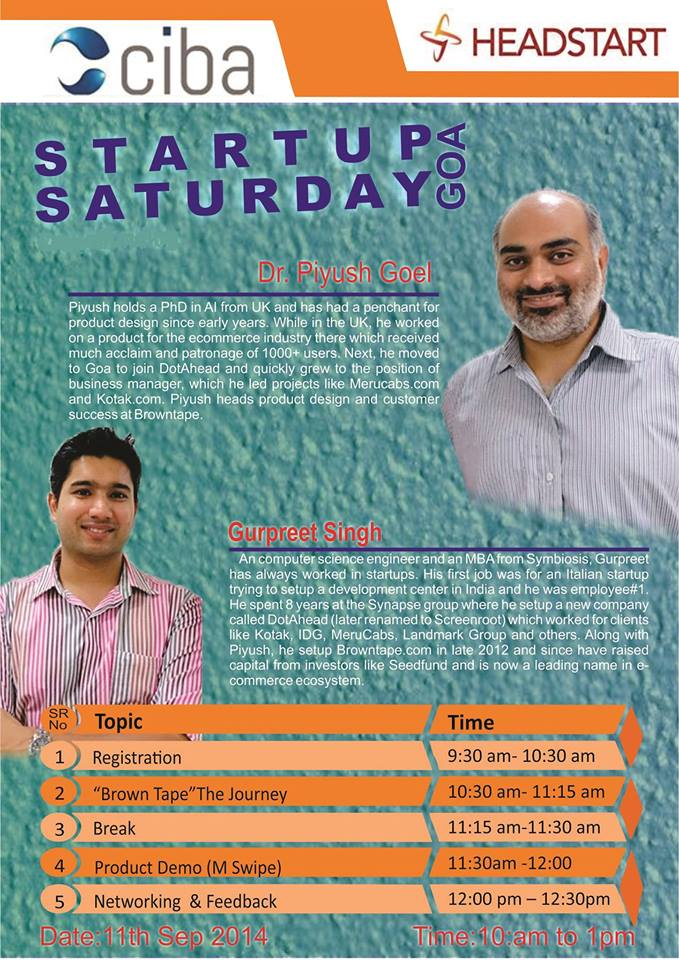 ciba-Headstart Startup Saturday Goa