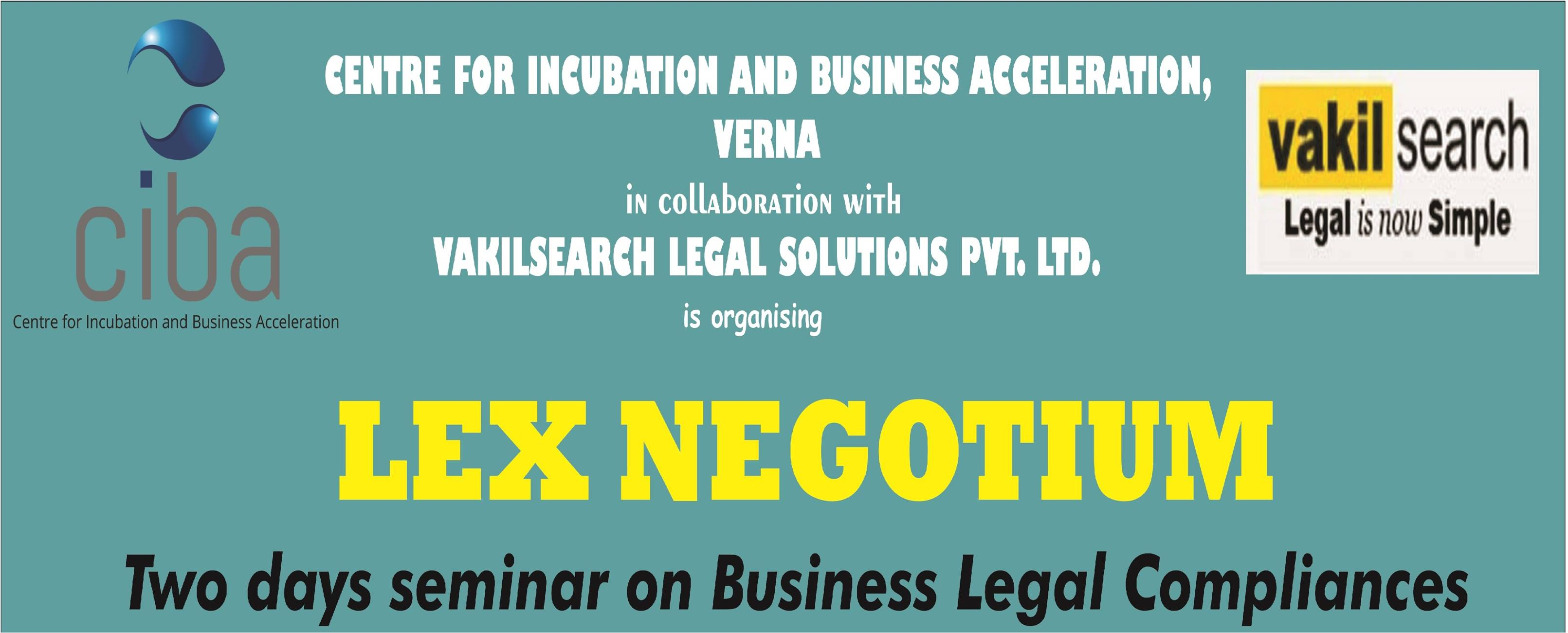 ciba-LEX NEGOTIUM- Seminar on Business Legal Compliance