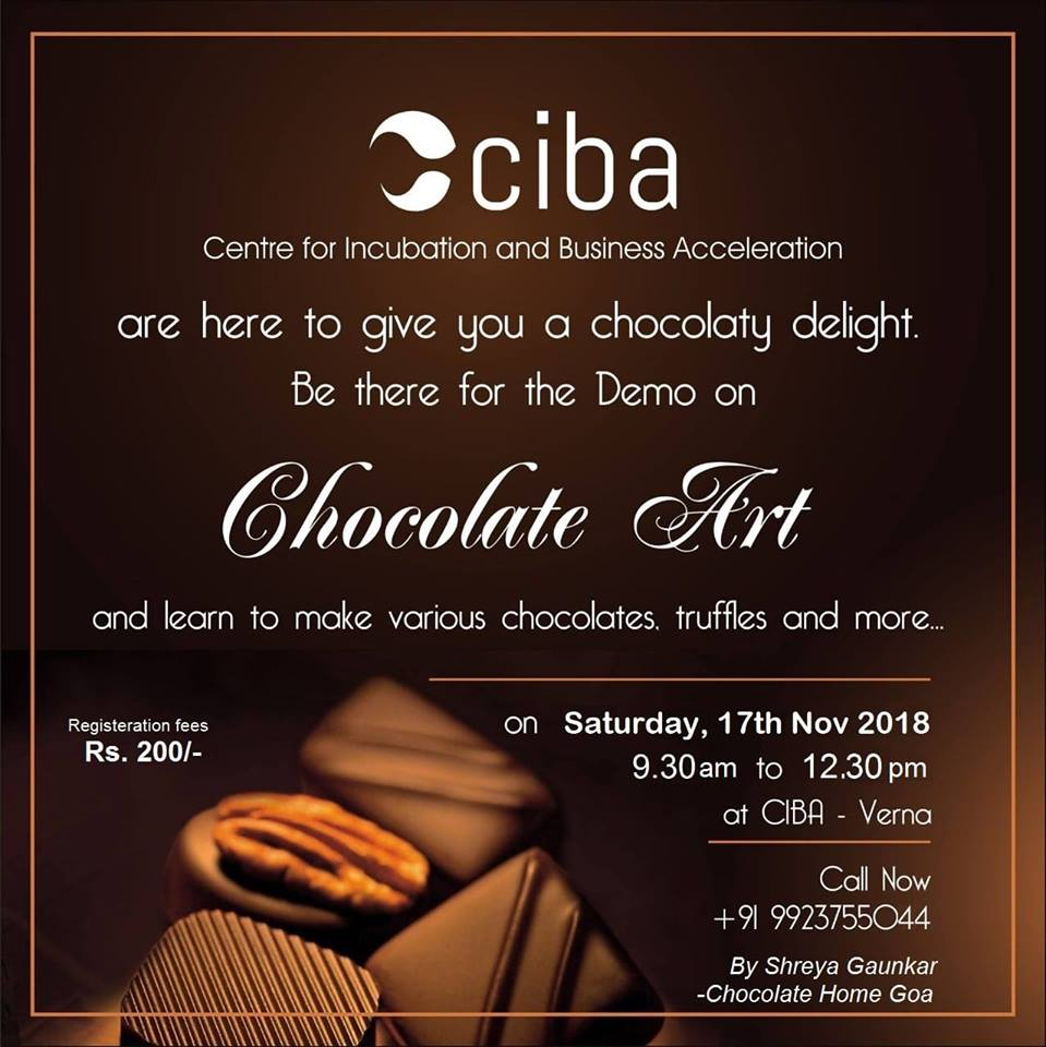 ciba-Chocolate Art workshop